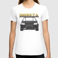 subaru T-shirts featuring Subaru Impreza by Vehicle