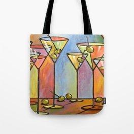 Martini Bar ... Abstract alcohol lounge bar kitchen art Tote Bag