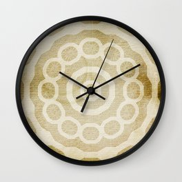 Rivet pattern on stained paper Wall Clock