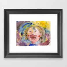 I feel happy Framed Art Print