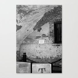 Powder Magazine B&W Canvas Print