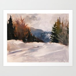 Carrabassett Valley Near Sugarloaf Art Print
