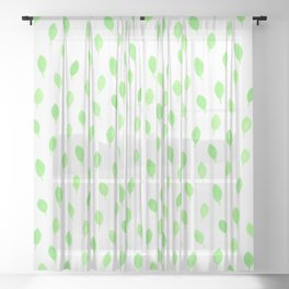 Floating Leaves Sheer Curtain