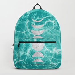Pool Dream Moon Phases #1 #water #decor #art #society6 Backpack