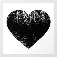 Night-hearted  Art Print