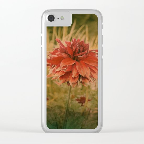 Hand painted vintage flower Clear iPhone Case