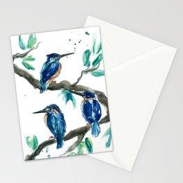 Three Kingfishers Stationery Cards