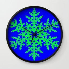 Snowflake in Blue Field, Gift Wall Clock
