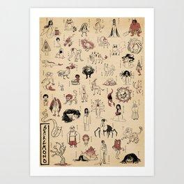 50 Bakemono Art Print