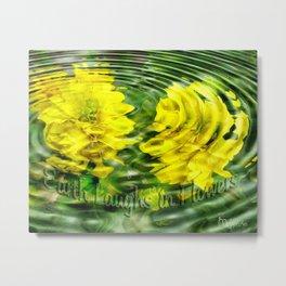 """Earth Laughs in Flowers"" by Artist McKenzie http://www.McKenzieArtStudio.com Metal Print"