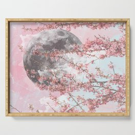 Spring Moon Serving Tray