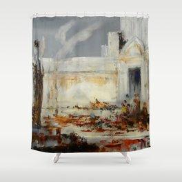 """Gustave Moreau """"Hélène à la porte de Scée"""" Shower Curtain"""