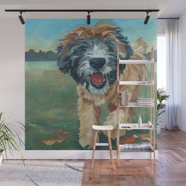 Wheaton Terrier Dog Portrait Wall Mural
