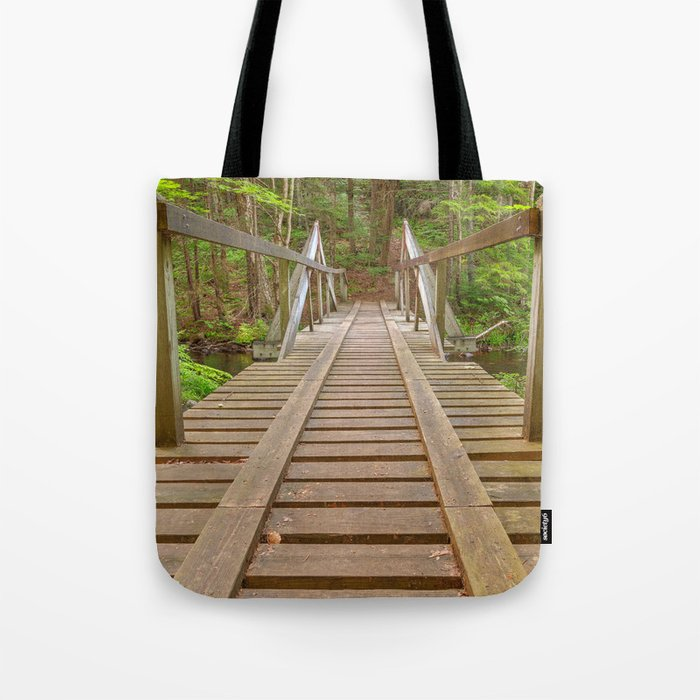 Forest Track Bridge Tote Bag