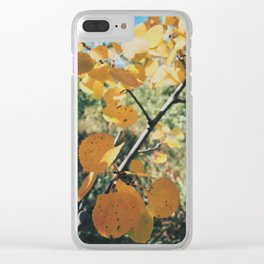 Fall Gold Clear iPhone Case