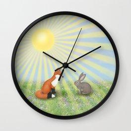 fox and bunny Wall Clock