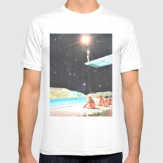 Diving Space MEDIUM White Mens Fitted Tee