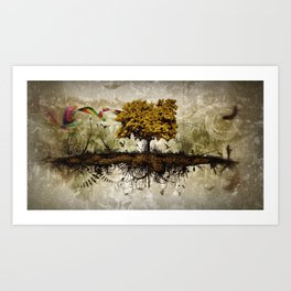 Space in Time  Art Print