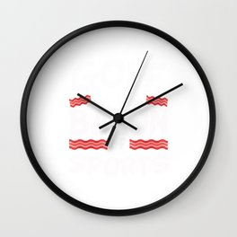 Golf is the Bacon of Sports Funny Wall Clock