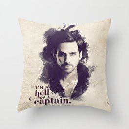 A Hell of a Captain Throw Pillow