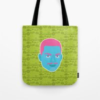 fresh prince Tote Bags featuring Carlton - The fresh prince of Bel-Air by Kuki