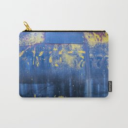 Blue and Yellow Rust Abstact Carry-All Pouch