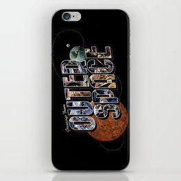 Greetings From Outer Space (color 01) iPhone Skin