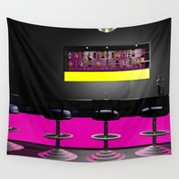 disco Wall Tapestries featuring Disco by Littlebell