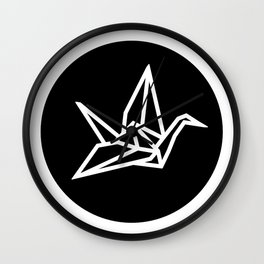 YO ZEN logo, black circle Wall Clock