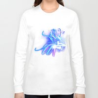 neon Long Sleeve T-shirts featuring Neon by Monica Ortel ❖