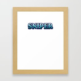 Sniper  internet online game Shooter weapon target gift idea gamer Framed Art Print