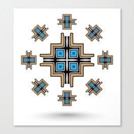 aztec cross mandala Canvas Print