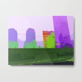 NY#2 Ground Zero, Purple Metal Print