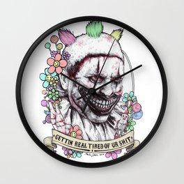 xoxo Twisty (color) Wall Clock