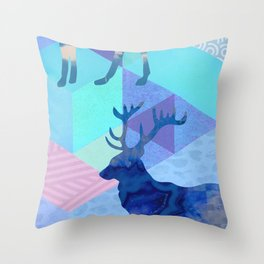Stag Party Throw Pillow