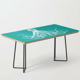 Octopus | Teal and White Coffee Table
