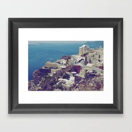 Oia from afar  Framed Art Print