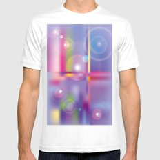 Frosted Glass  White MEDIUM Mens Fitted Tee