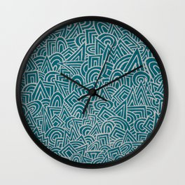 teal test Wall Clock