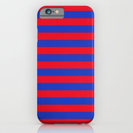 Blue and Red Stripes iPhone Case