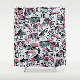 Danish small town pattern Shower Curtain