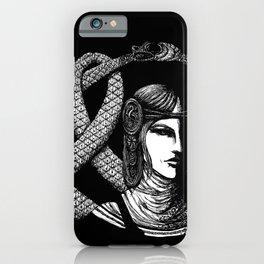 Nordic Goddess Hel in Black Portrait iPhone Case