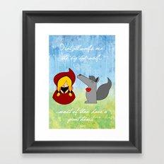 Little Red Riding Hood & Lovely Wolf ♥ Framed Art Print