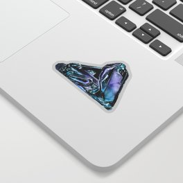 Rainbow Fluorite Crystals Watercolor Sticker