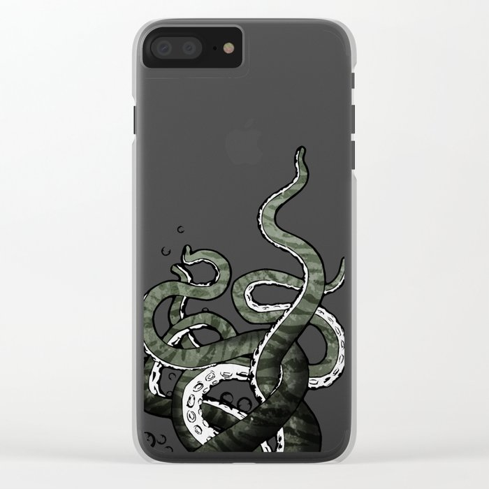 Octopus Tentacles Clear iPhone Case
