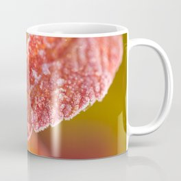 Frosty Red Leaves In The Morning Of October #decor #buyart #society6 Coffee Mug