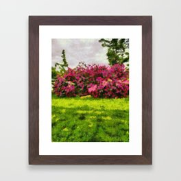 Leahs flowers Framed Art Print