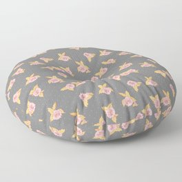 in bloom : roses and dots Floor Pillow