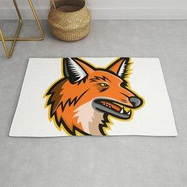 Maned Wolf Mascot Rug