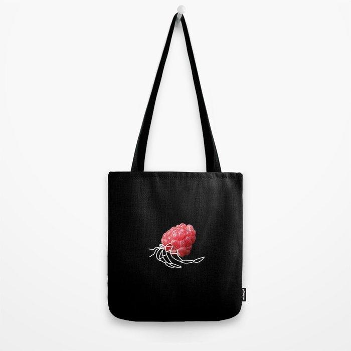 Raspberry Hermit Crab Tote Bag